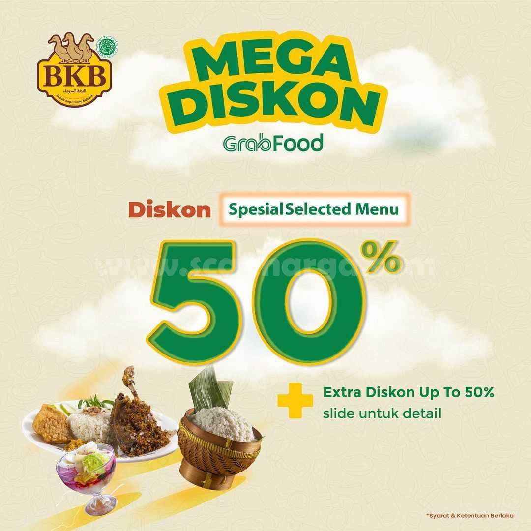 Promo Bebek BKB MEGA DISKON 50% pemesanan via GRABFOOD