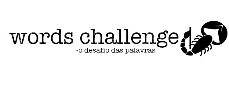 words challenge escorpião 2019 desafio de palavras