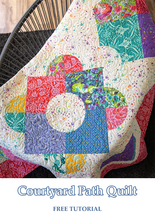 Courtyard Path Quilt designed by Jenny of Missouri Quilt Co