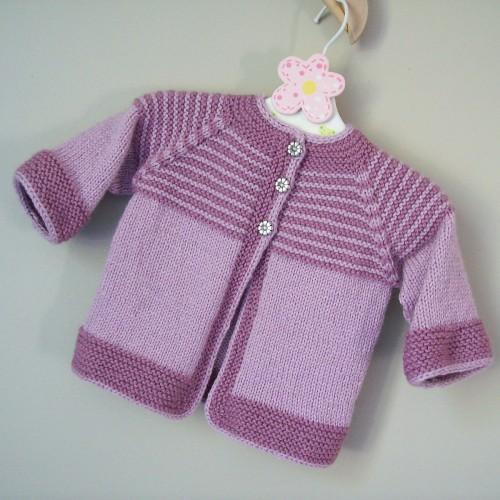 Garter Yoke Baby Cardigan - Free Pattern