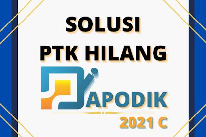 PTK Hilang di Dapodik 2021 c , Berikut Solusinya