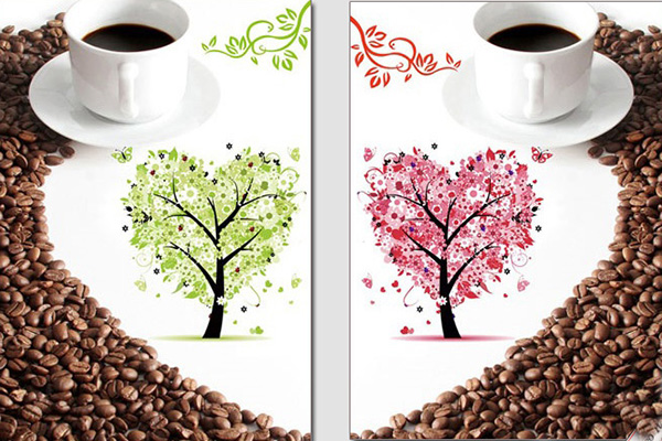 tranh trang trí quán cafe theo phong cách riêng