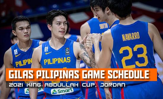 Gilas Pilipinas 2021 King Abdullah Cup Schedule, Score, Live stream