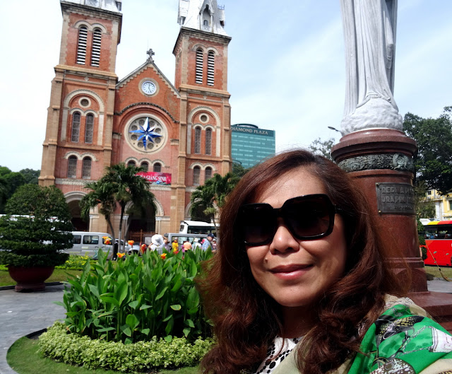 Dutched Pinay in Notre Dame Cathedral in Ho Chi Minh City - Saigon, Vietnam