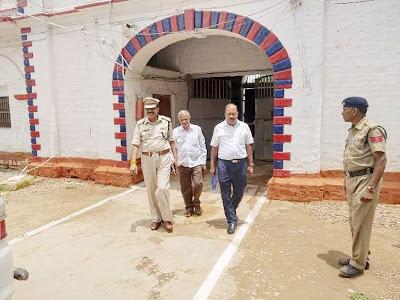 केन्द्रीय जेल रीवा का प्रमुख सचिव जेल ने किया निरीक्षण, दिया व्यवस्था सुधारने का निर्देश