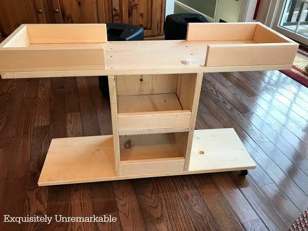 DIY Custom Wooden Music Gear Cart