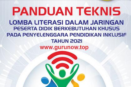 Juknis Lomba Literasi Daring Inklusi PDBK Tahun 2021