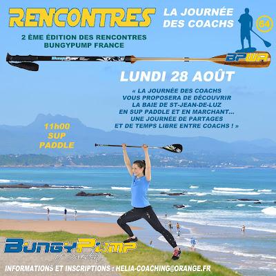 Journée Coach de Bungy Pump le 28.8.2017 à St Jean de Luz www.bungypump-france.fr