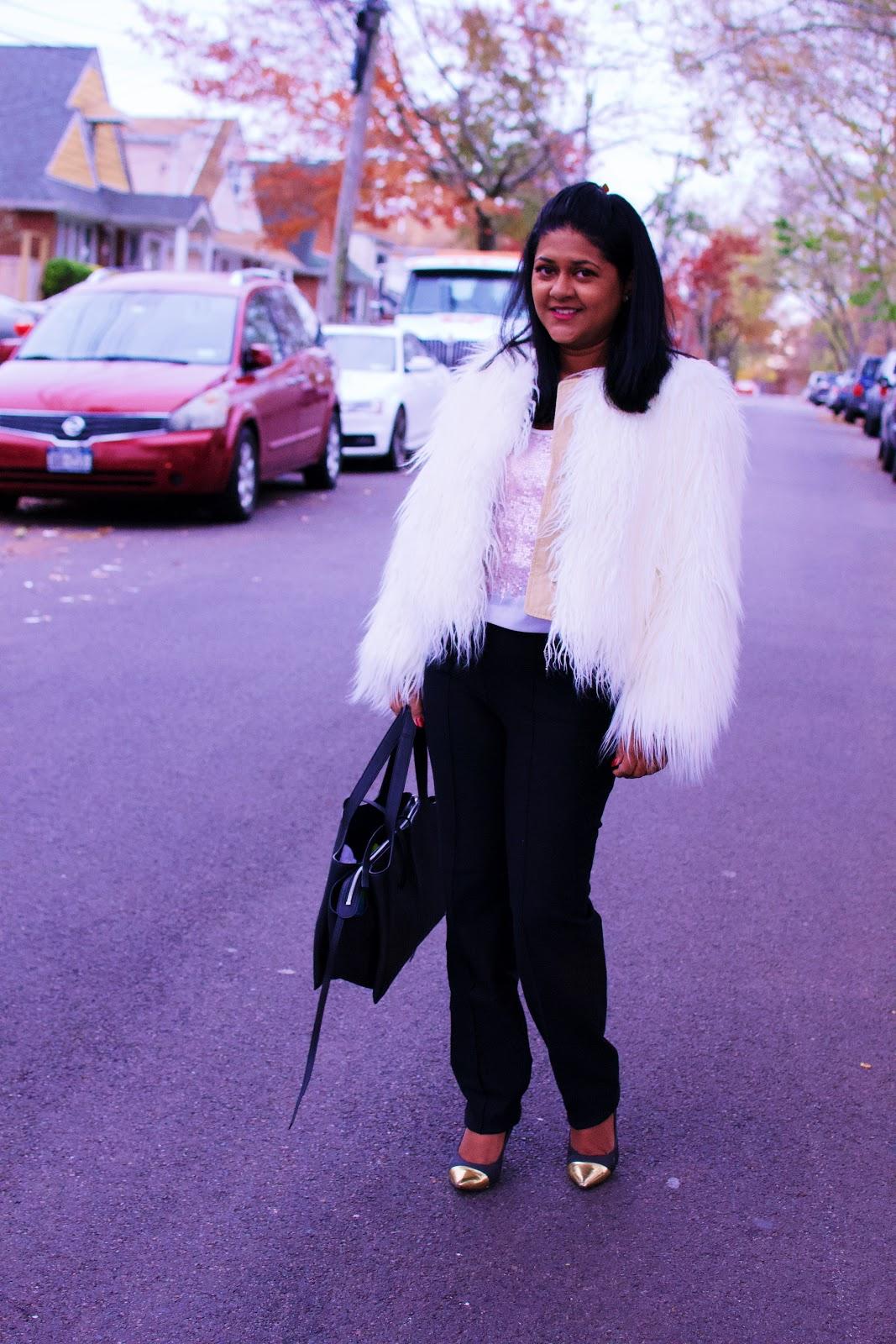Faux fur jacket, fall jackets to wear in New York, fall fashion