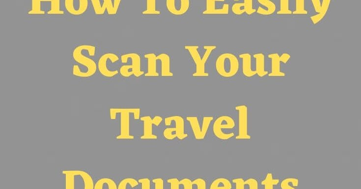 Never Take A Picture of Your Travel Docs Again