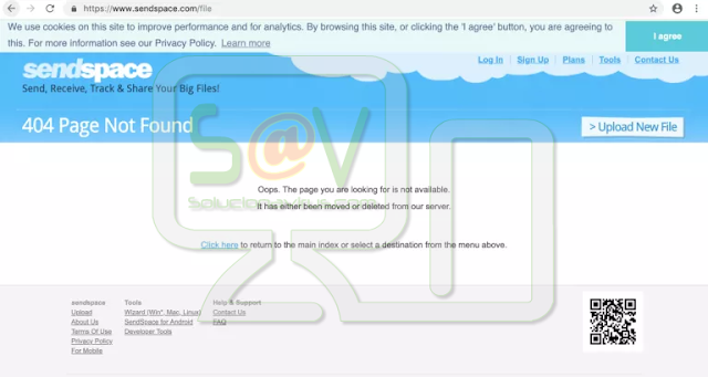 redirecciones a Sendspace.com