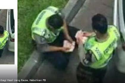 Foto Polisi Lalu Lintas Berbagi Uang Hasil Razia Tilang, Hebohkan FB