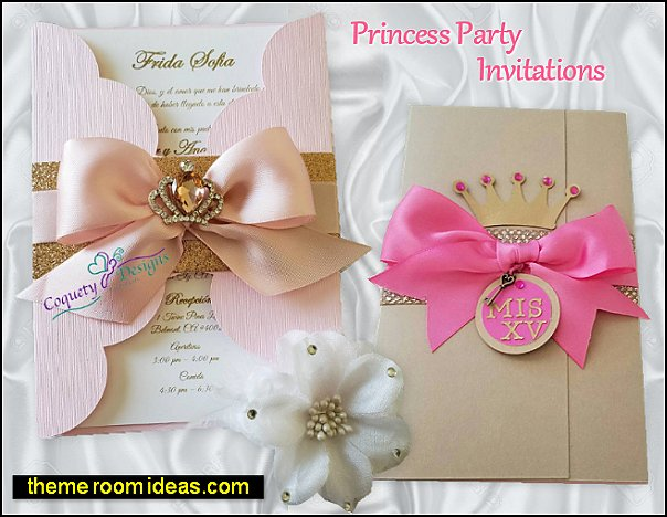 pink princess party invitations princess party invitations