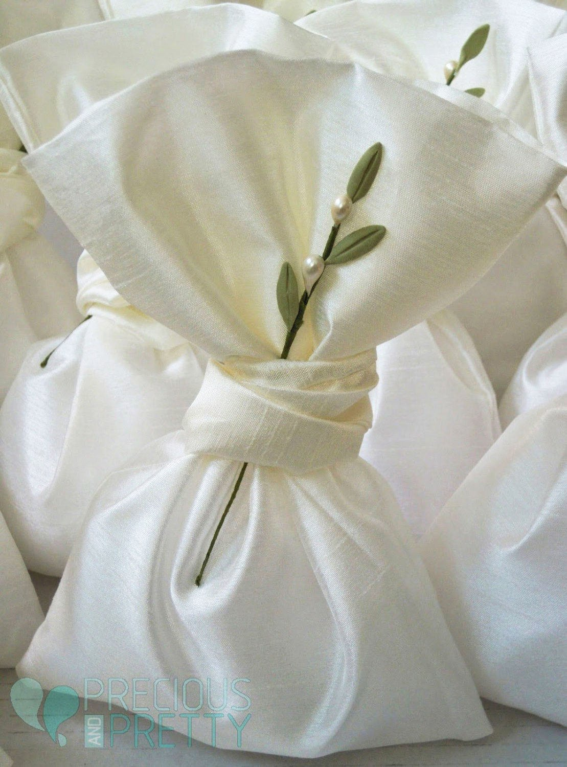 Olive favor bags for Greek weddings
