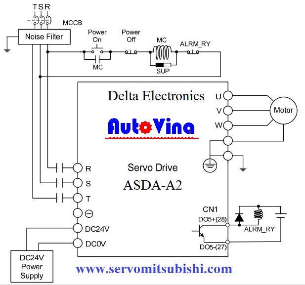 Sơ đồ đấu nối Servo ASD-A2-0743-L ASD-A2-1043-U ASD-A2-1543-E ASD-A2-2043-F ASD-A2-3043-M ASD-A2-4543-M ASD-A2-5543-U ASD-A2-7543-U