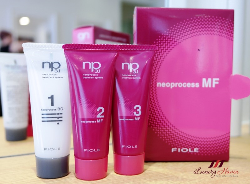 georgina hair salon fiole neoprocess mf treatment system