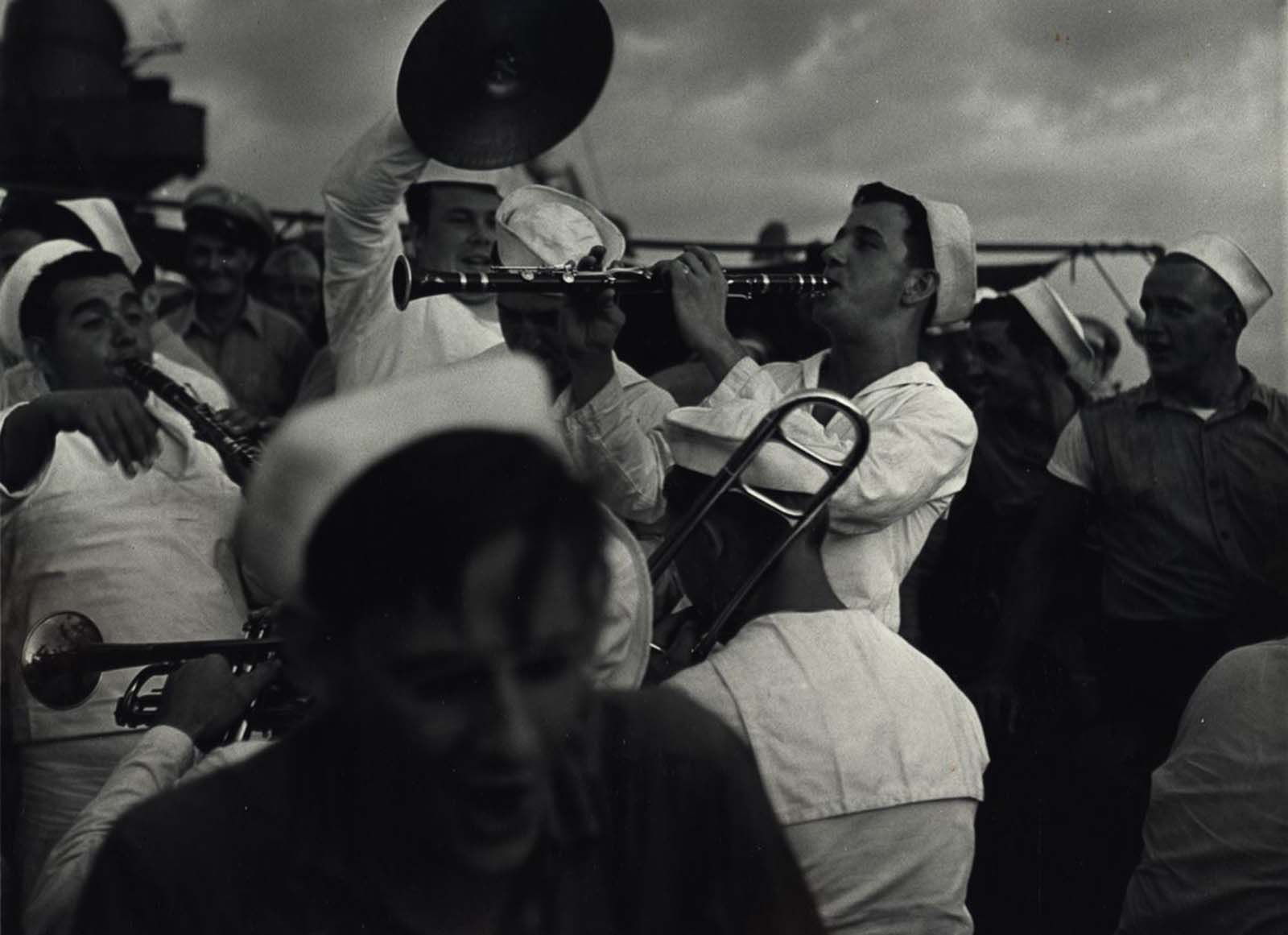 Sailors Playing Instruments, c. 1943.