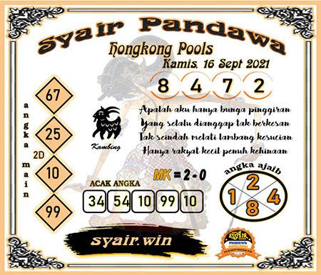 Syair Pandawa HK Kamis 16-Sep-2021