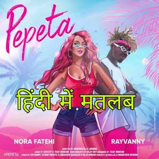 Pepeta Lyrics Meaning/Translation in Hindi – Nora Fatehi | Rayvanny