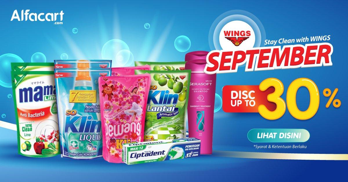 Alfamart - Promo Diskon s.d 30% Clean With Wings Belanja di Alfacart