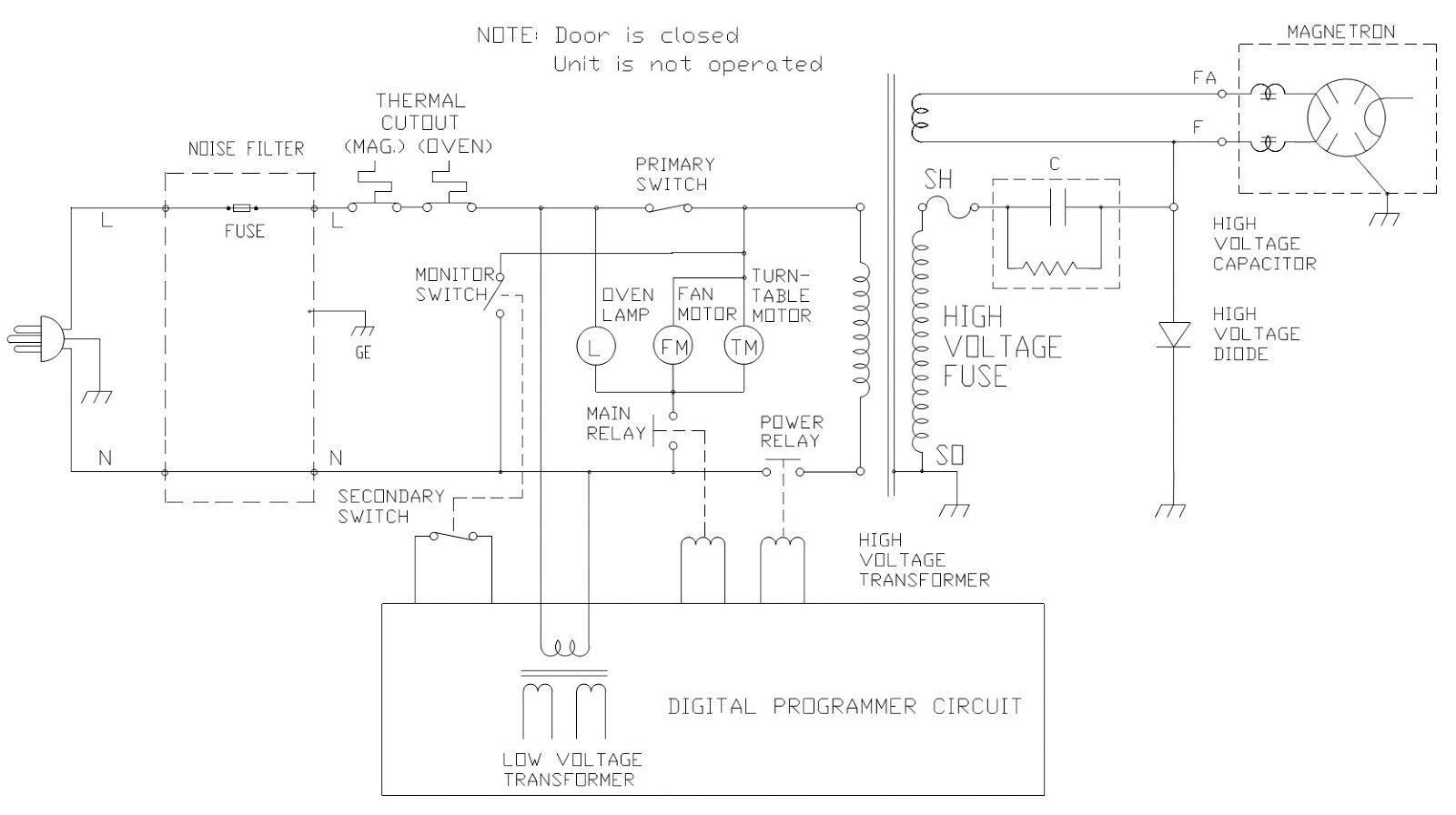 lg microwave oven circuit diagram kenwood stereo wiring panasonic 34