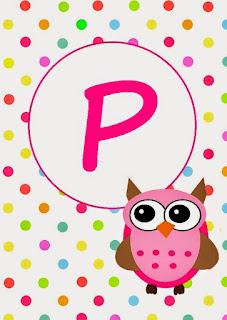 Pink Owl Flags. Banderines para Fiesta de Búhos, Tecolotes, Lechuzas o Ñacurutú.