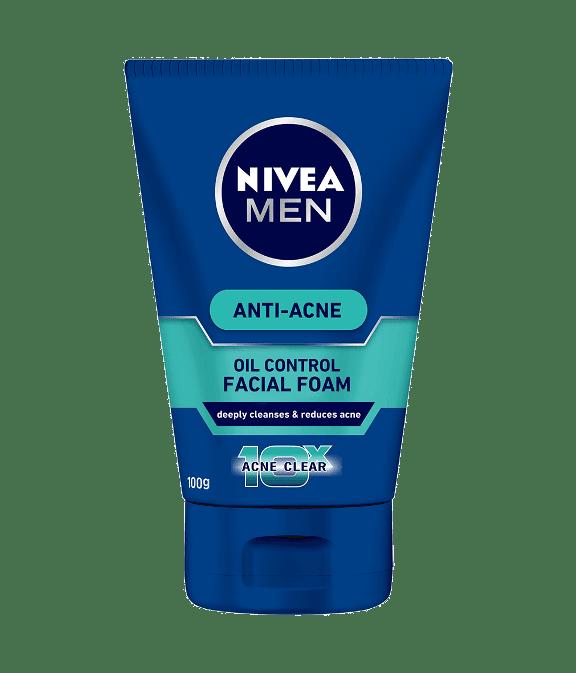 Pencuci muka lelaki Nivea men total anti acne foam