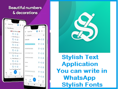 Stylish Text Application, You can write in WhatsApp Stylish Fonts