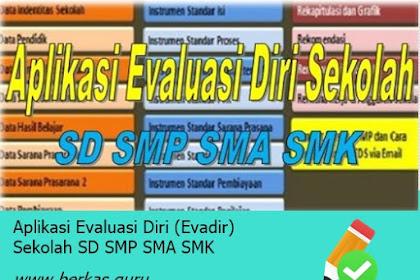 Aplikasi Evaluasi Diri (Evadir) Sekolah SD SMP SMA SMK