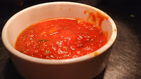 Pizza sauce recipe at home serving in a bowl