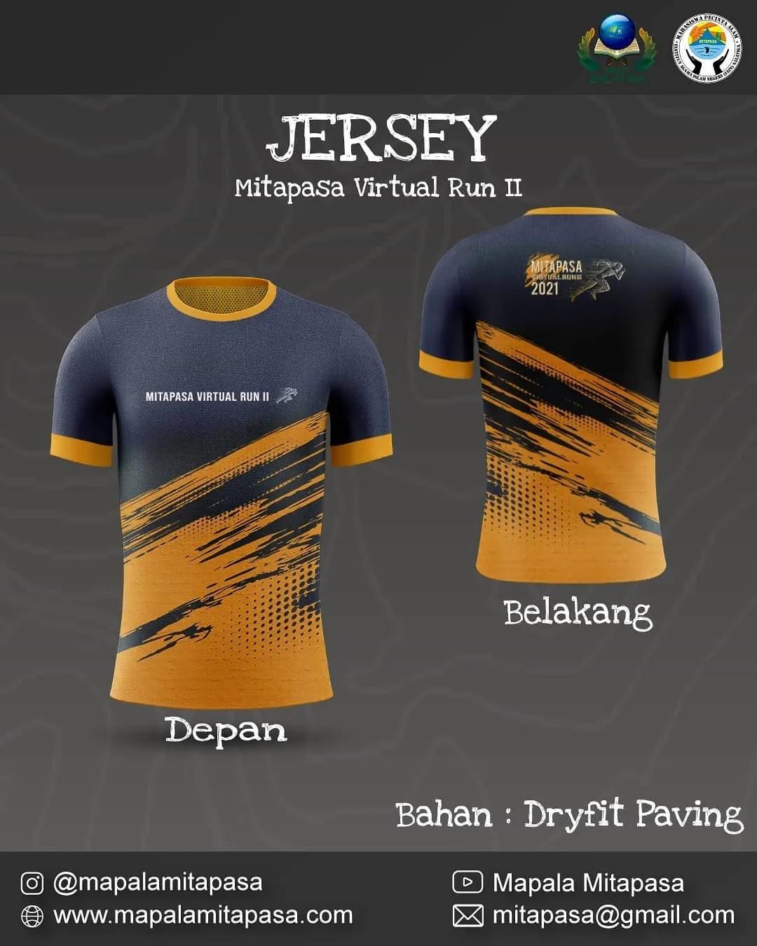 Jersey 👕 Mitapasa Virtual Run II • 2021