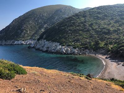 Spiaggia dei Mangani - isolated and deserted.