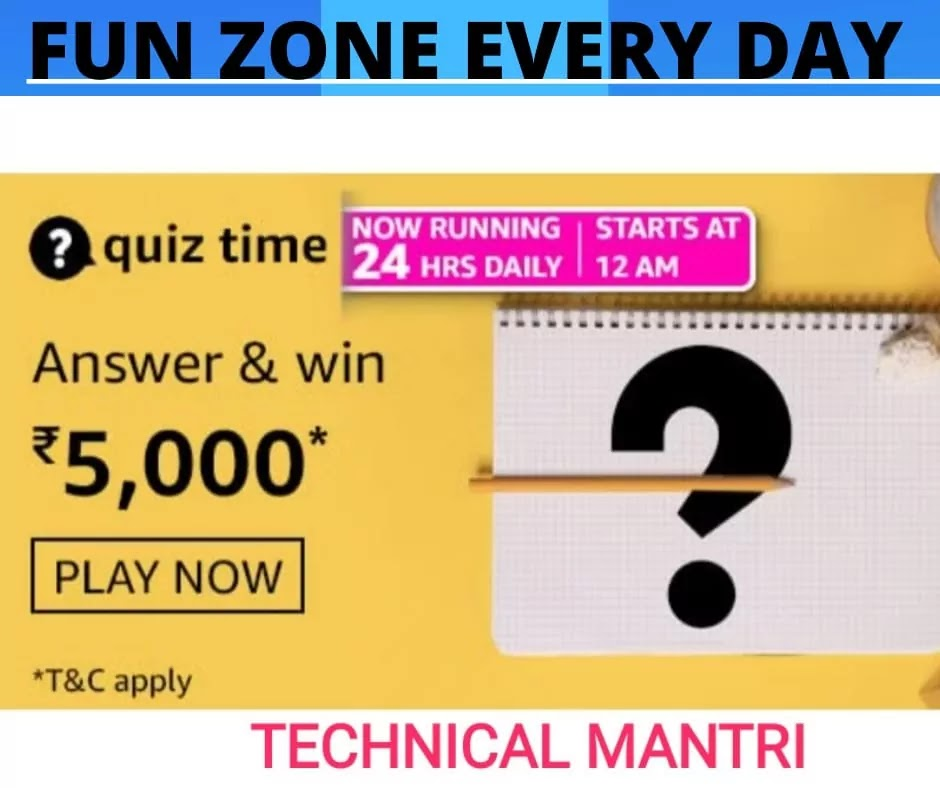 Amazon quiz answers today for 5th April 2021: Win 5000