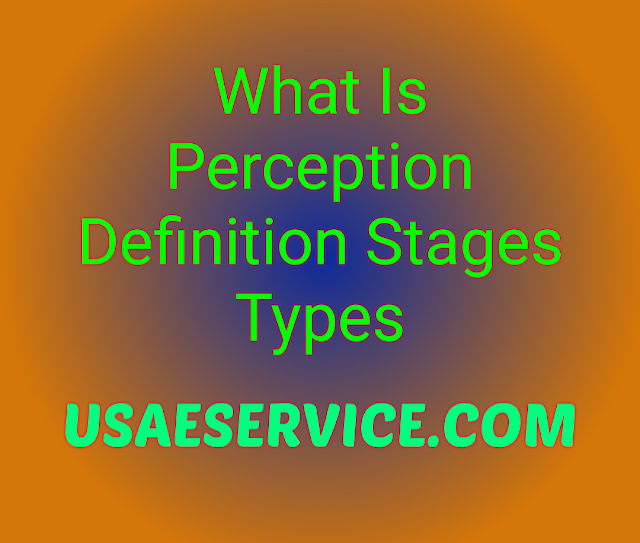 What is Perception Definition Stages Types