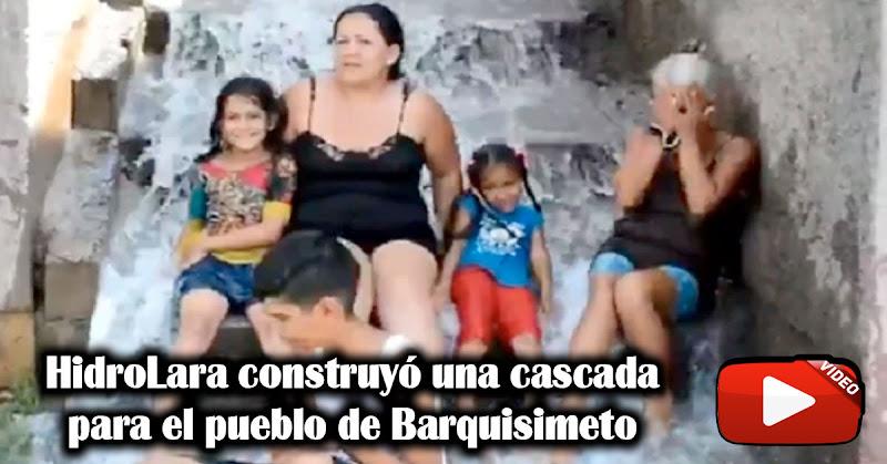 HidroLara construyó una cascada para el pueblo de Barquisimeto