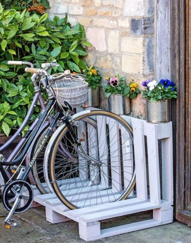 Suporte de bicicleta com Palett