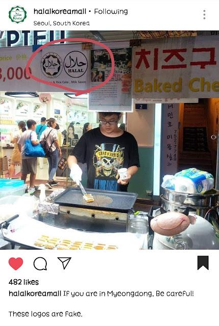 makanan halal palsu di korea