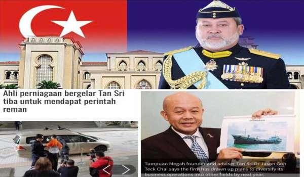 Tan Sri Dr Jason Goh Teck Chai Direman Lima Hari Dakwaan Cuba Rasuah Sultan Johor