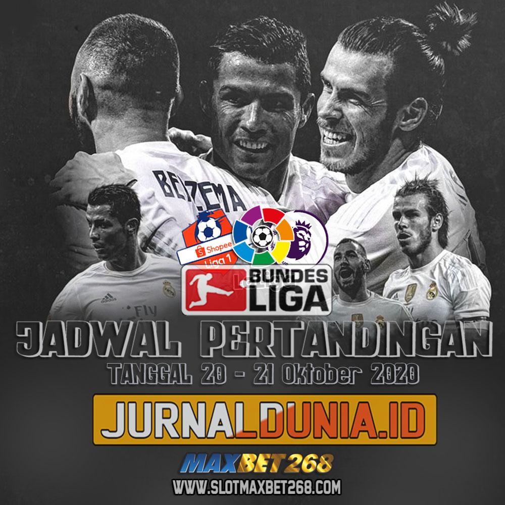 Jadwal Pertandingan Sepakbola Hari Ini, Selasa Tgl 20 - 21 Oktober 2020