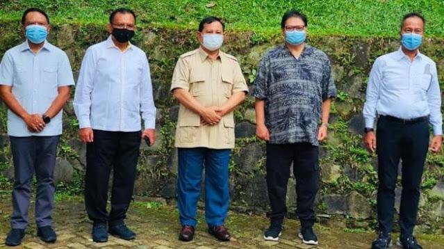 Sambangi Rumah Prabowo Subianto di Hambalang, Airlangga Hartaro Bahas Ini