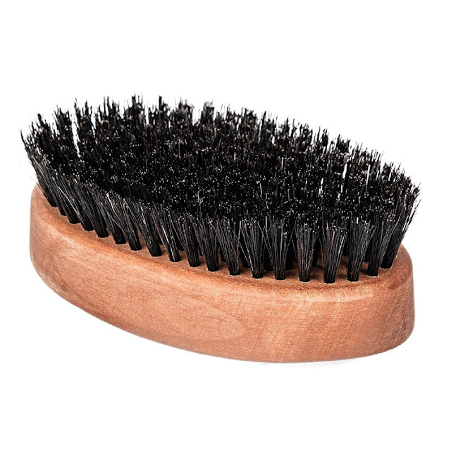 Wood Military Hair Brush