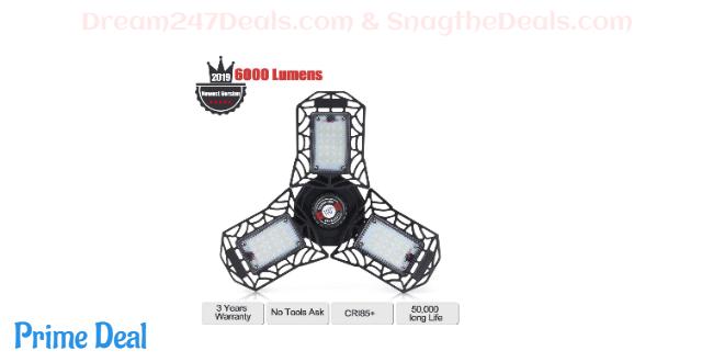 50% OFF Super Bright 6000LM LED Garage Light