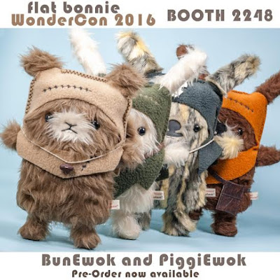 WonderCon 2016 Exclusive BunEwok & PiggiEwok Star Wars Ewok Plushes by Flat Bonnie