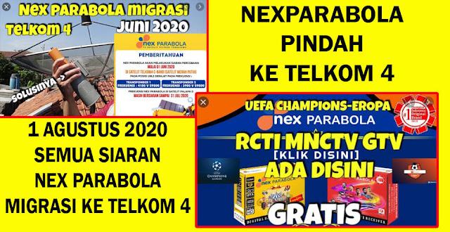 Cara Mencari Siaran Nex Parabola di Telkom 4 C-Band Terbaru 1 Agustus 2020