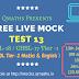 SSC CGL CHSL Free Live Mock Test