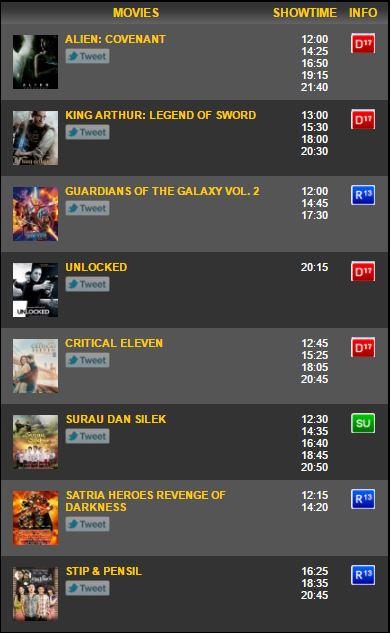 Jadwal Xxi Cbd : jadwal, Jadwal, Bioskop, Bencoolen, Bengkulu, Terbaru