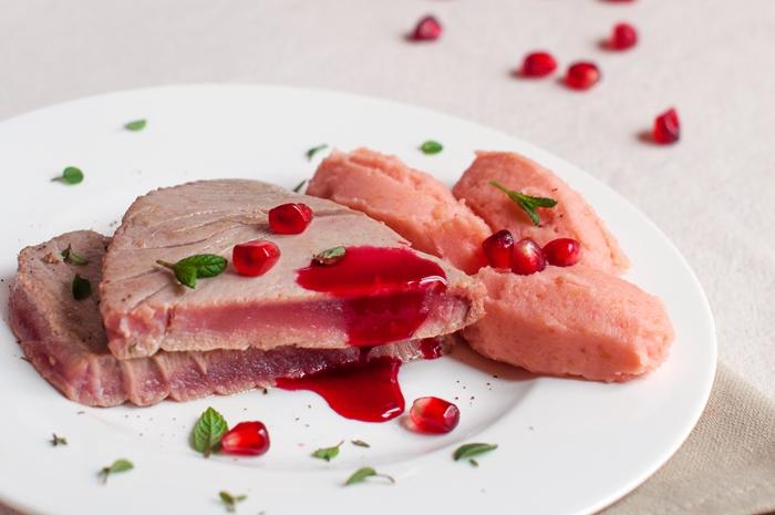 Tonno in trancio e pur di topinambur una ricetta in rosa - Inulina in cucina ...