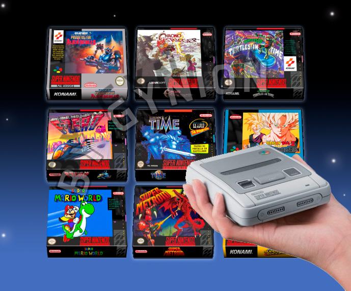Video Art Games Iconos 3d Frontales De Snes Classic Mini