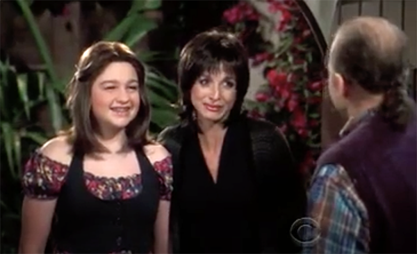 Angus T. Jones femulating on a 2008 episode of television's Two and a Half Men .