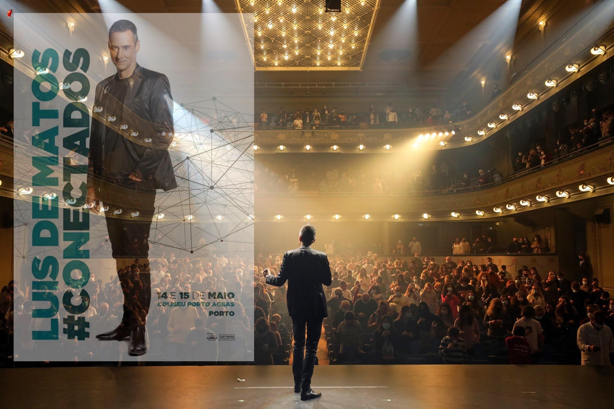 O espectáculo #Conectados de Luis de Matos que estreou no dia 18 de Dezembro de 2020 no Teatro Tivoli BBVA chega ao Coliseu Porto AGEAS nos dias 14 e 15 de Maio.